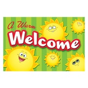 "Teacher Created Resources 4"" x 6"" Welcome Post Card, Happy Suns"