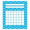 Teacher Created Resources 5 1/4in. x 6in. Mini Incentive Chart, Aqua Chevron