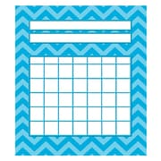"Teacher Created Resources 5 1/4"" x 6"" Mini Incentive Chart, Aqua Chevron"