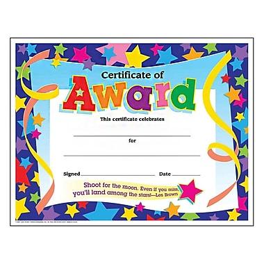 Trend Enterprises® Certificate of Award, 8 1/2