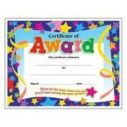 "Trend Enterprises® Certificate of Award, 8 1/2""(L) x 11""(W)"