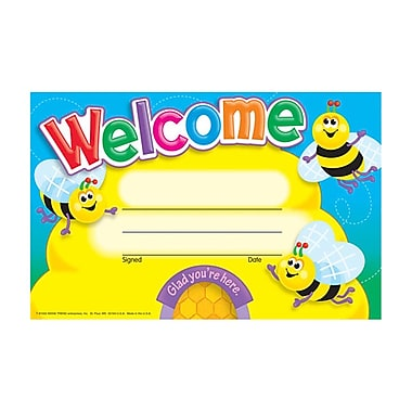 Trend Enterprises® Recognition Awards, Welcome (Bees)