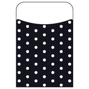 Trend Enterprises® Polka Dots Black Terrific Pocket, 40/Pack