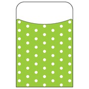 Trend Enterprises® Polka Dots Lime Terrific Pocket, 40/Pack