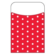 Trend Enterprises® Polka Dots Red Terrific Pocket, 40/Pack
