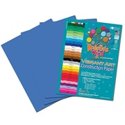 Roselle Vibrant Construction Paper, Blue, 12(W) x 18(L), 50 Sheets
