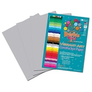 Roselle Vibrant Construction Paper, Pearl Gray, 12(W) x 18(L), 50 Sheets
