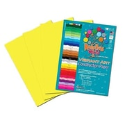 Roselle Vibrant Construction Paper, Yellow, 12(W) x 18(L), 50 Sheets