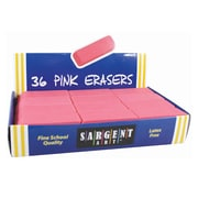Sargent Art™ Large Eraser, Pink, 36/Pack