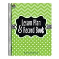 Teacher Created Resources Lesson Plan & Record Book, Lime Chevrons and Dots