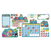 "Trend Enterprises® 17 1/2"" x 23"" Calendar Bulletin Board Set, Sea Buddies™"