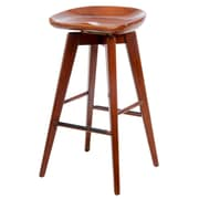 "Boraam Bali 29"" Hardwood Swivel Stool, Walnut"