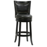 "Boraam Bristol 29"" Bonded Leather Swivel Stool, Black"