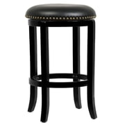 "Boraam Cordova 24"" Hardwood Swivel Stool, Black"
