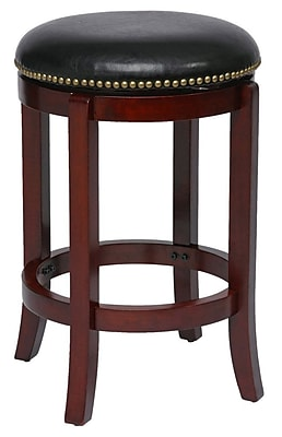 """""Boraam Cordova 24"""""""" Ruberwood Swivel Stool, Cherry"""""" 910891"