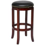 "Boraam Cordova 29"" Rubberwood Swivel Stool, Cherry"