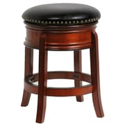"Boraam Hamilton 24"" Wood Swivel Stool, Brandy"