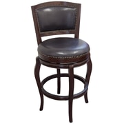 "Boraam Harris Memory 29"" Wood Swivel Stool, Cappuccino"