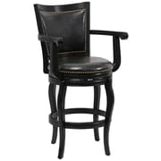 "Boraam Jones Memory 29"" Hardwood Swivel Stool, Black"