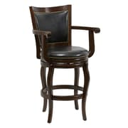 "Boraam Jones Memory 29"" Hardwood Swivel Stool, Cappuccino"