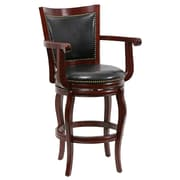 "Boraam Jones Memory 29"" Hardwood Swivel Stool, Cherry"