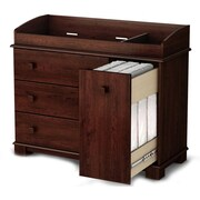 """South Shore™ Precious 39"""" Laminated Particleboard Changing Table, Royal Cherry"""