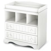 """South Shore™ Savannah 37"""" Laminated Particleboard Changing Table, Pure White"""