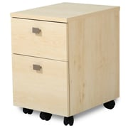 "South Shore™ Interface 20"" Laminated Particleboard 2-Drawer Mobile File Cabinet, Natural Maple"