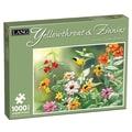 LANG® 1000 Pieces Jigsaw Puzzle, Yellowthroat & Zinnias