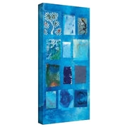 """ArtWall """"Blue Square"""" Gallery Wrapped Canvas Art By Elena Ray, 18"""" x 24"""""""