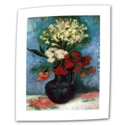 ArtWall Vase with Carnations and... Gallery Wrapped Canvas Art By Vincent Van Gogh, 36 x 48