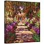 ArtWall A Pathway in Monet's Garden Gallery Wrapped
