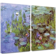 "ArtWall ""Sea Roses"" 2 Piece Gallery Wrapped Canvas Art By Claude Monet, 24"" x 36"""