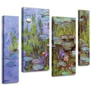 "ArtWall ""Sea Roses"" 2 Piece Gallery Wrapped Canvas Art By Claude Monet, 36"" x 48"""