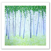 """ArtWall """"Misty Woodlands"""" Unwrapped Canvas Art By Herb Dickinson, 14"""" x 14"""""""