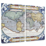 "ArtWall ""Typus Orbis Terrarum"" 2 Piece Gallery Wrapped Canvas Art By Abraham Ortelius, 32"" x 48"""