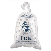 "Inteplast Group IC1221 Ice Bag, 21""(H) x 12""(W), Clear/Blue"