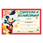 Eureka® Mickey® Certificate of Accomplishment Graduation Recognition Award