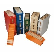 "MMF Industries™ Porta-Count® Extra-Capacity Rolled Coin Tray, Sand, $300 Halves, 4""H x 4""W x 7 1/2""D"