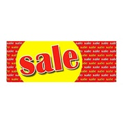 "8' x 3' Outdoor Banner ""SALE"", Red/Yellow"