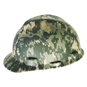 MSA Freedom Series™ Fas-Trac Ratchet Suspension Polyethylene V-Gard Hard Hat, Camouglage