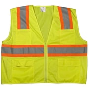 Mutual Industries MiViz ANSI Class 2 High Visibility Mesh Surveyor Vest, Lime, Large