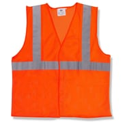 Mutual Industries MiViz ANSI Class 2 Solid Safety Vest With Silver Reflective, Orange, 3XL