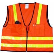 Mutual Industries MiViz High Visibility Surveyor Vest, Orange, 4XL