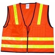 Mutual Industries MiViz High Visibility Surveyor Vest, Orange, 3XL