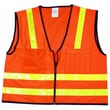 Mutual Industries MiViz High Visibility Surveyor Vest, Orange, Large