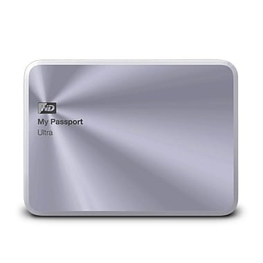 Western Digital® 1TB My Passport Ultra Metal Edition Premium Storage, Silver