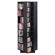 Leslie Dame Spinning Hand-Crafted CD Multimedia Revolving Tower; Black