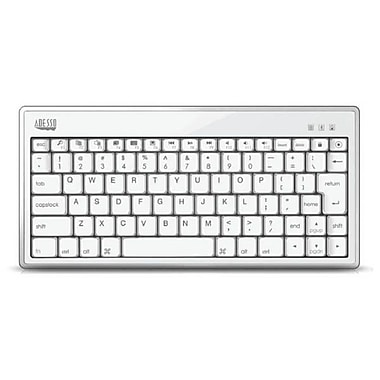 Adesso Bluetooth 3.0 Mini Keyboard 1010 for iPad, White