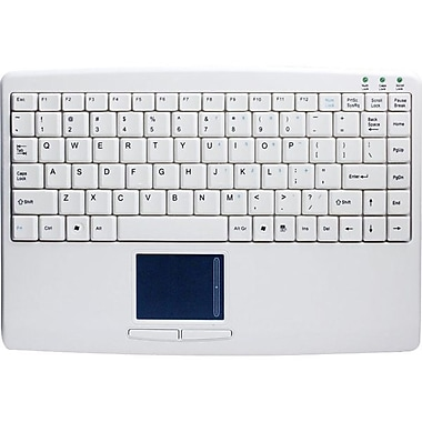 Adesso SlimTouch 410, Mini Touchpad Keyboard, White